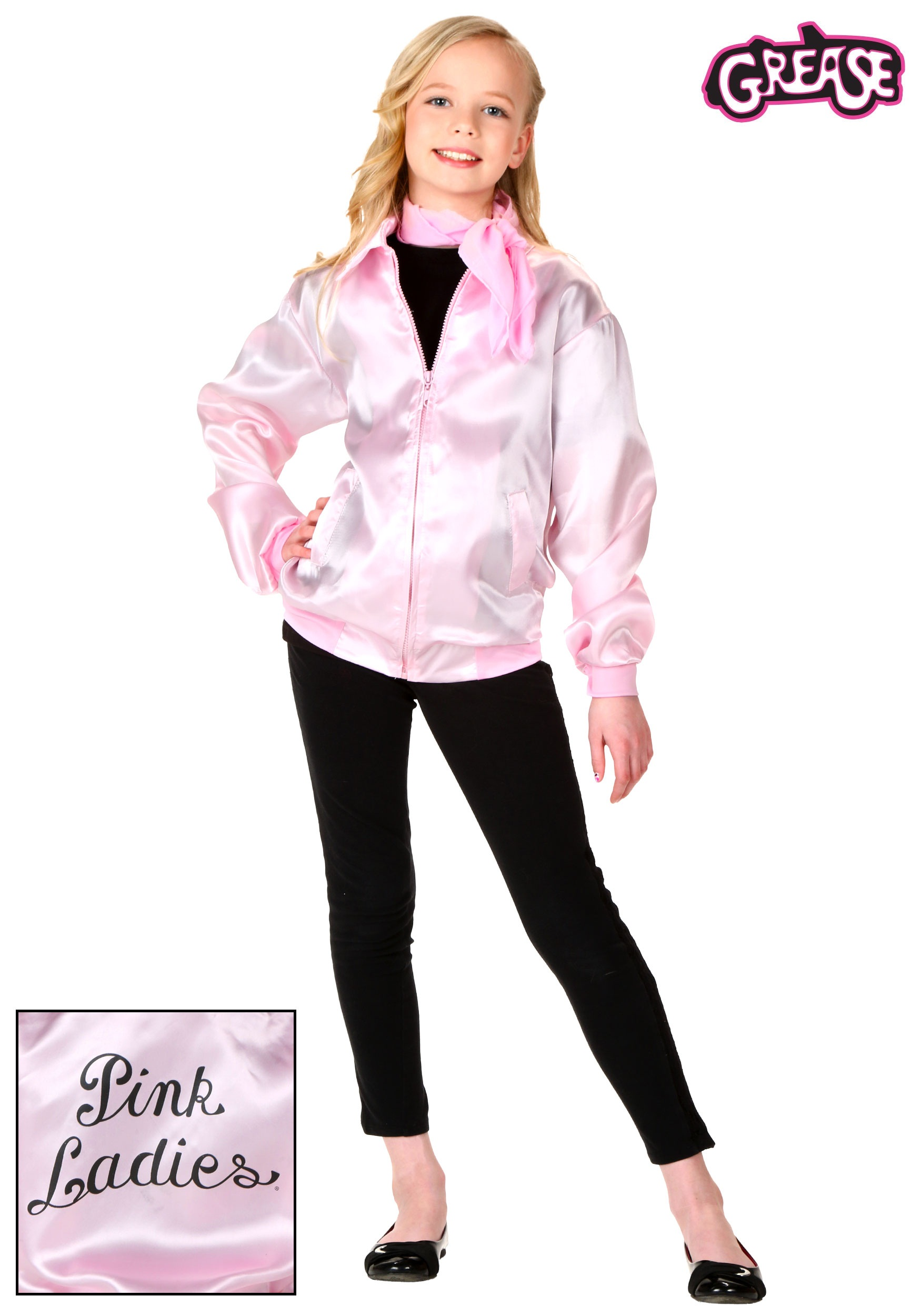 ... - Grease Pink Ladies Jacket Nearly New Pink Ladies Grease Jacket