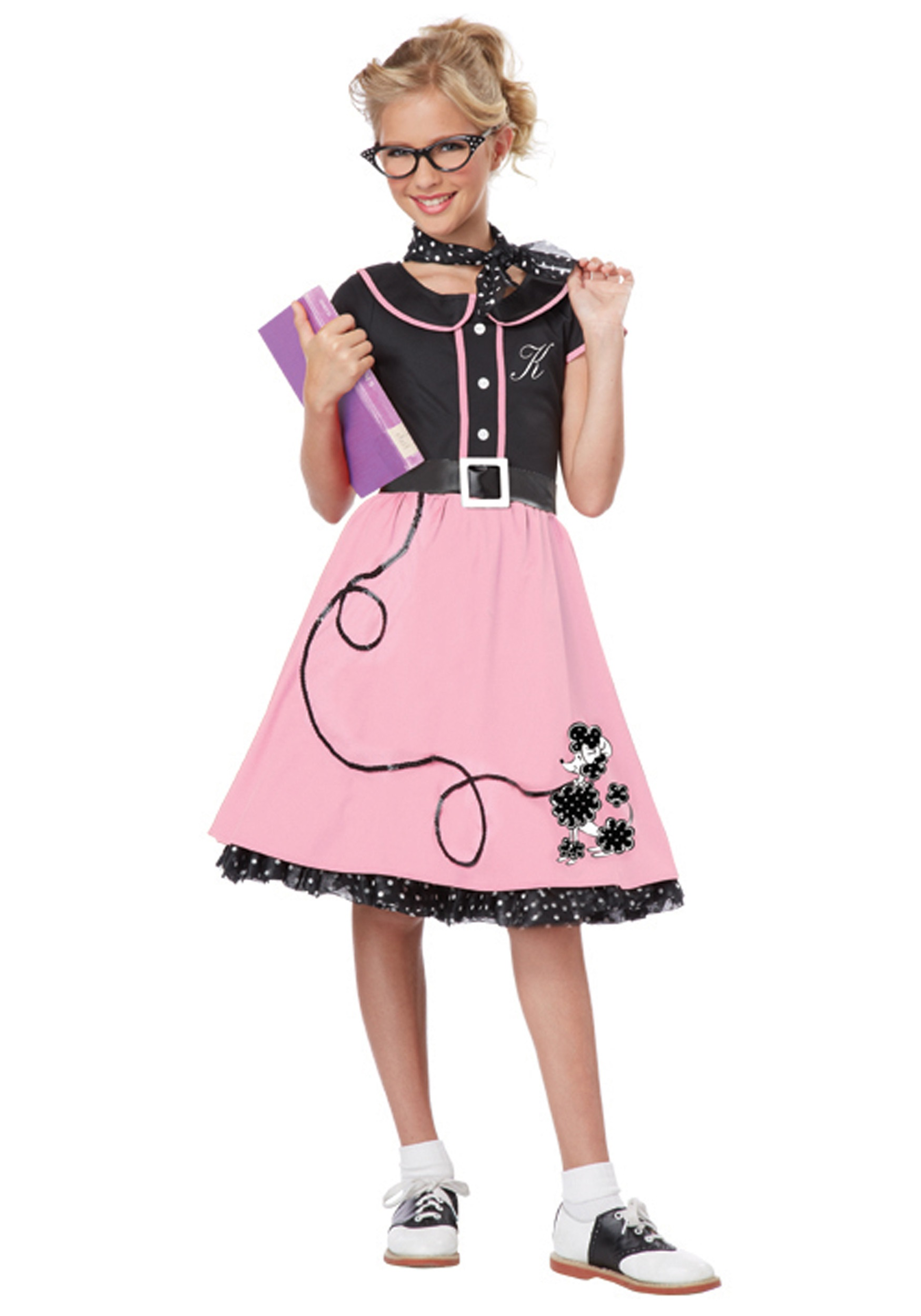 Girls Pink 50s Sweetheart Costume  Halloween Costumes