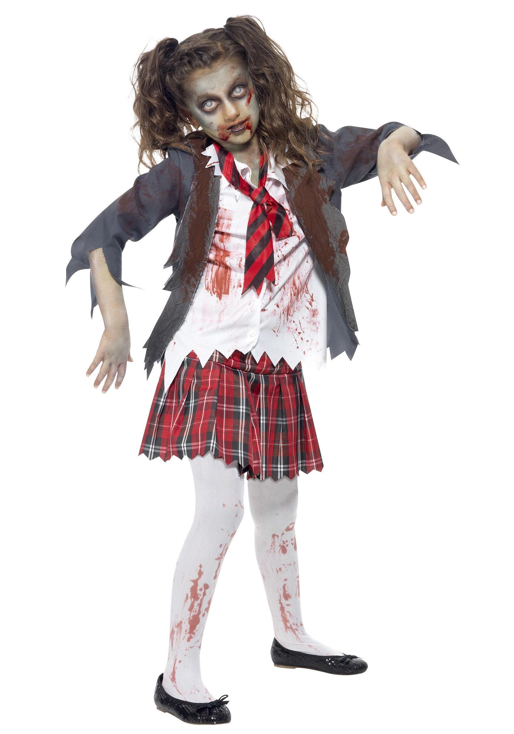 Kids Zombie School Girl Costume - Halloween Costumes