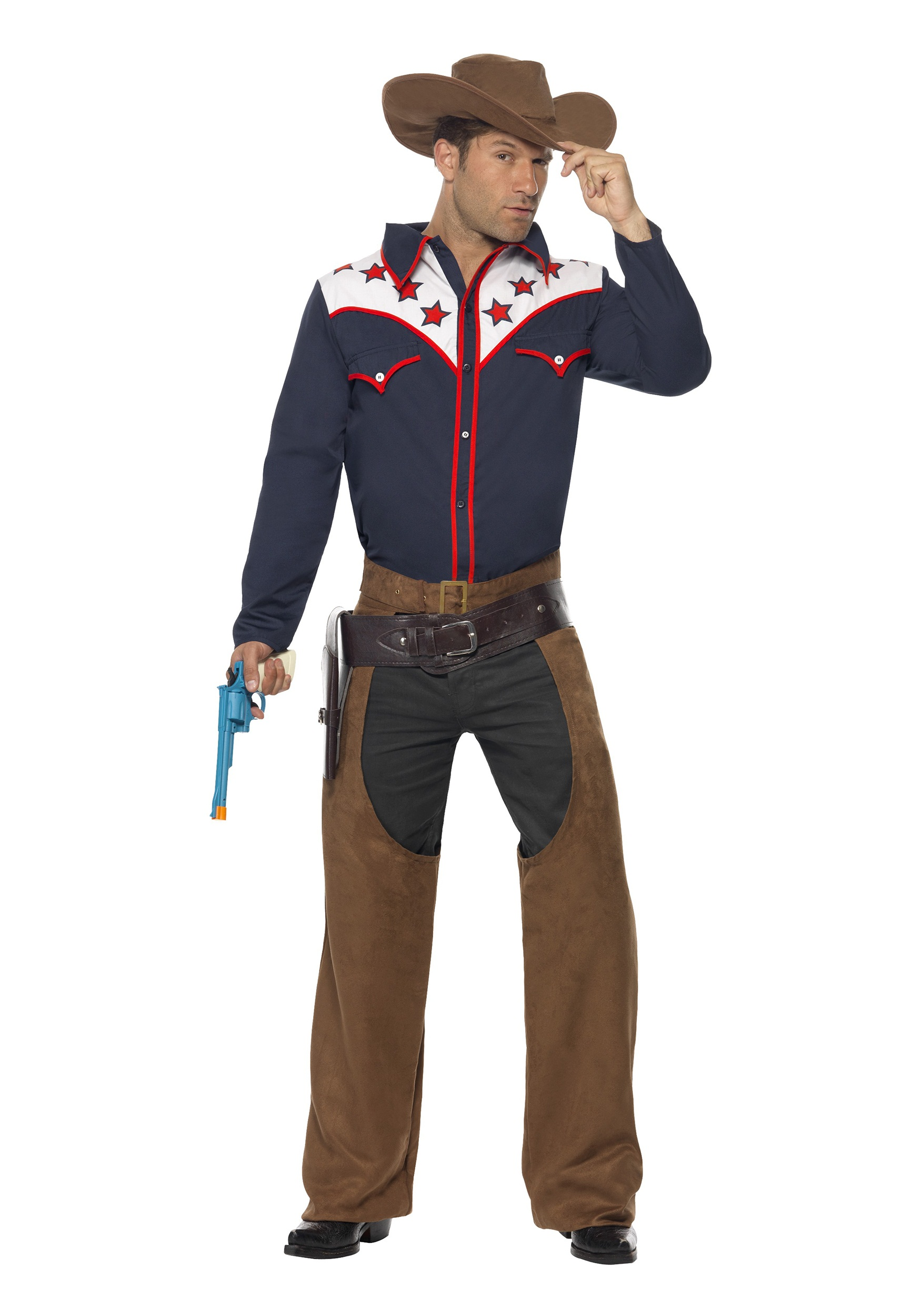 Guy Cowboy Costumes Men's Rodeo Cowboy Costume