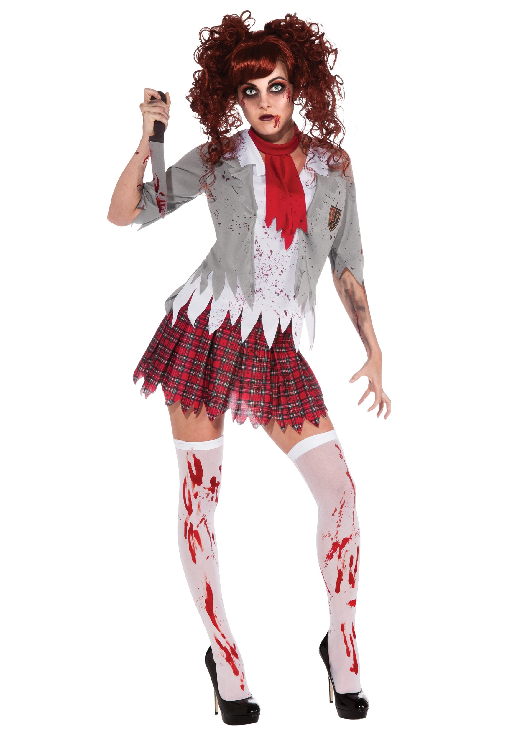 Halloween Zombie Costumes For Girls Zombie School Girl Costume